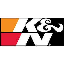 "DECAL/STICKER K&N BLACK 9""..."