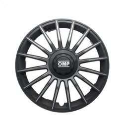 "TAPACUBOS OMP 14"" NEGRO/GRIS"