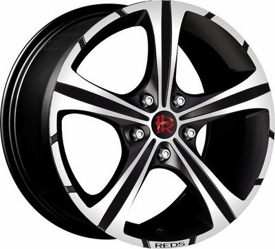 Cerchio Reds Black Knight 7,5X17 Et42 4X108 Black Matt, Polished