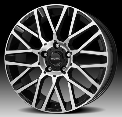 Cerchio Momo Revenge Evo 8,0X17 Et38 5X110 Black Matt, Polished