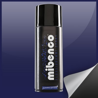 Mibenco Liquid Rubber Spray 400 Ml Dark Blue Bright