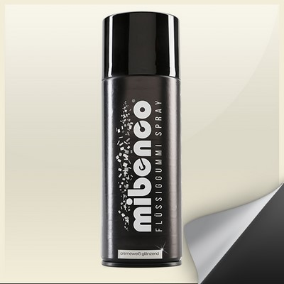 Mibenco Liquid Rubber Spray 400 Ml Cream White Bright