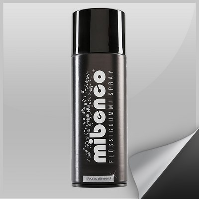Mibenco Liquid Rubber Spray 400 Ml Grey Tele Bright