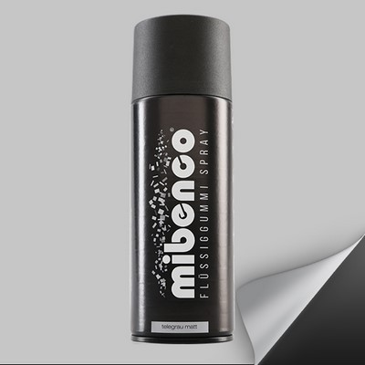 Mibenco Liquid Rubber Spray 400 Ml Grey Tele Mate