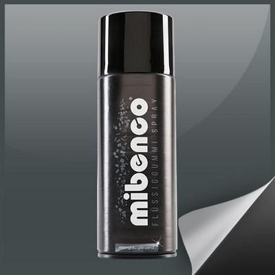 Mibenco Liquid Rubber Spray 400 Ml Iron Grey Brilliant