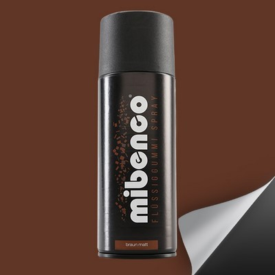 Mibenco Liquid Rubber Spray 400 Ml Matt Brown