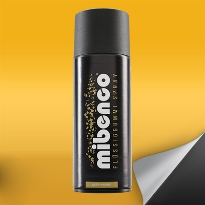 Mibenco Gomma Spray 400 Ml Di Liquido Oro Metallizzato Mate