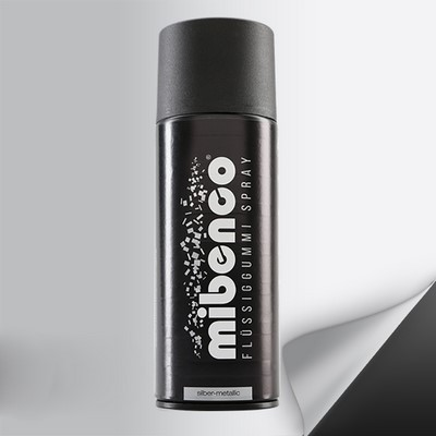 Mibenco Liquid Rubber Spray 400 Ml Metallic Silver Mate