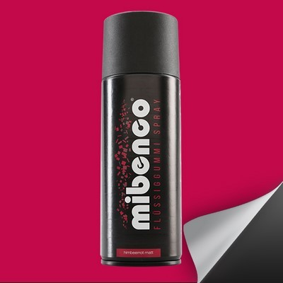 Mibenco Liquid Rubber Spray 400 Ml Red Raspberry Mate