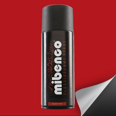 Mibenco Liquid Rubber Spray 400 Ml Red Flame Mate