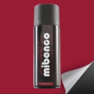 Mibenco Liquid Rubber Spray 400 Ml Red Ruby Mate