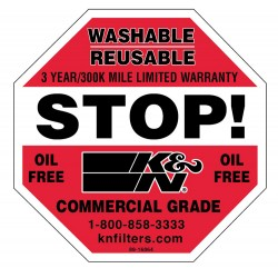 DECAL/STICKER K&N STOP 3""