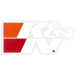 "DECAL/STICKER K&N WHITE 3""..."