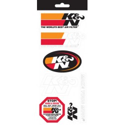 DECAL / STICKER SHEET K & N...