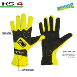 KS-4 GLOVES MY2018 YELLOW /...