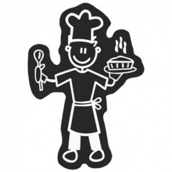 ADHESIVE FAMILY MAN CHEF CS5