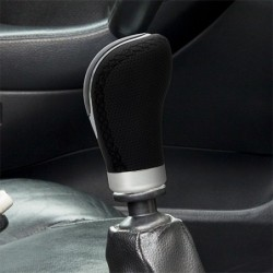 OEM LONG BLACK LEATHER KNOB...