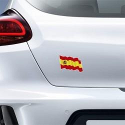SPAIN FLAG STICKER 2 PCS CS10