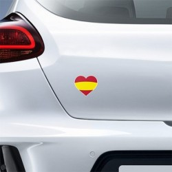 STICKER HEART FLAG SPAIN 2...