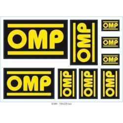 Omp ompoa//1069//A Set of 3/Pedals Anodised Aluminium L Silver