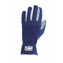 OMP BLUE RALLY SIZE GLOVES L
