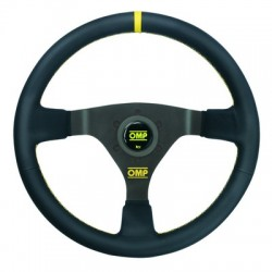 WRC WHEEL OMP BLACK LEATHER
