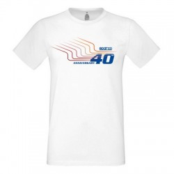 T-SHIRT 40TH SPARCO TG....
