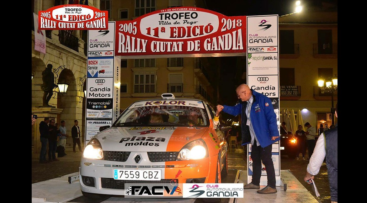 Eleventh edition of the Ciutat de Gandia Rally-Villa de Pego Trophy